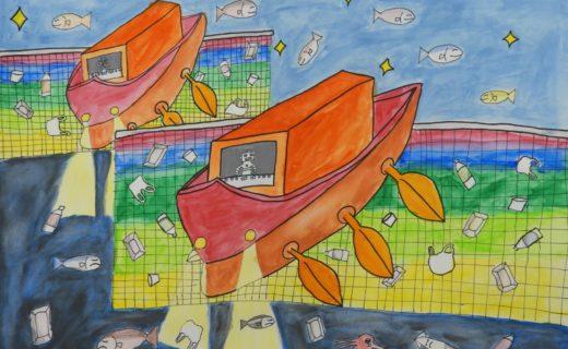科学の夢賞 「海中おそうじロボット船」